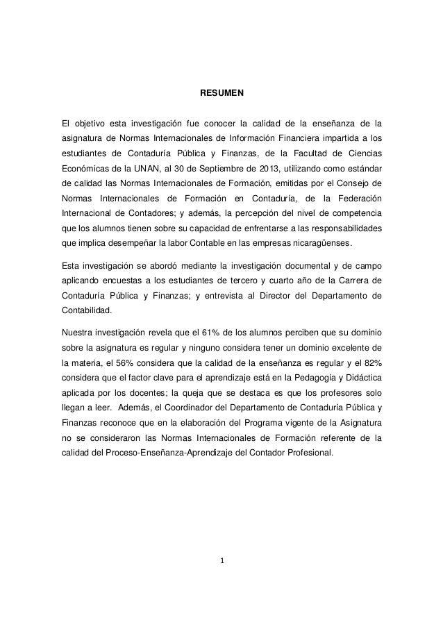 Evaluacion de calidad de enseñanza universitaria 2013 UNAN-RUCFA