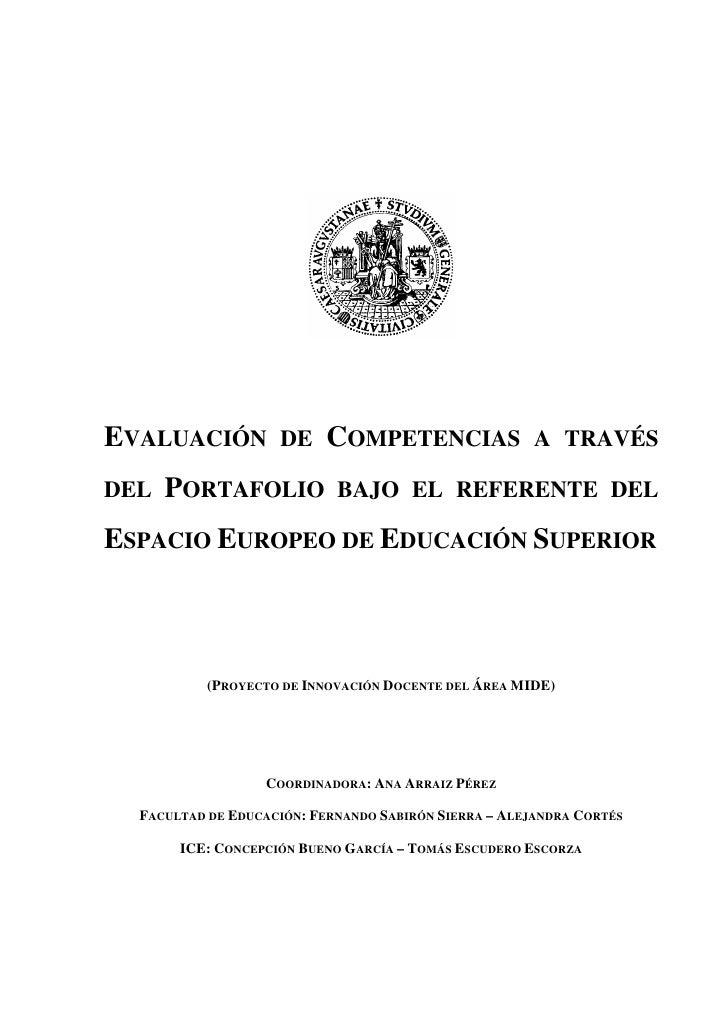 Evaluacion de competencias a través del portafolio