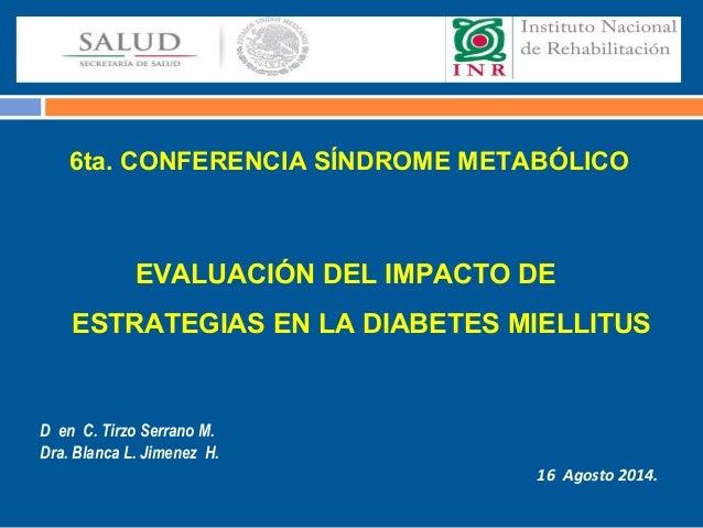 Evaluación del impacto de estrategias en la diabetes mellitus