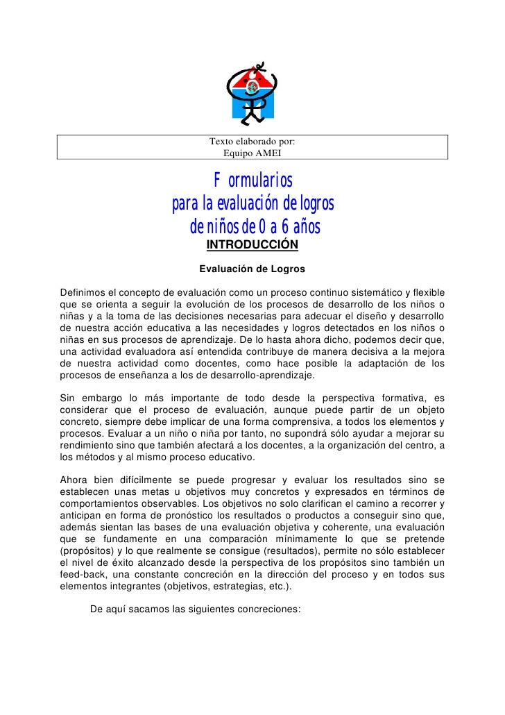 Texto elaborado por:                                    Equipo AMEI                               Formularios             ...