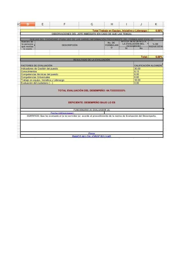 Evaluación Periodica del Desempeño Normativa Senres Funcionarios y Servidores Públicos