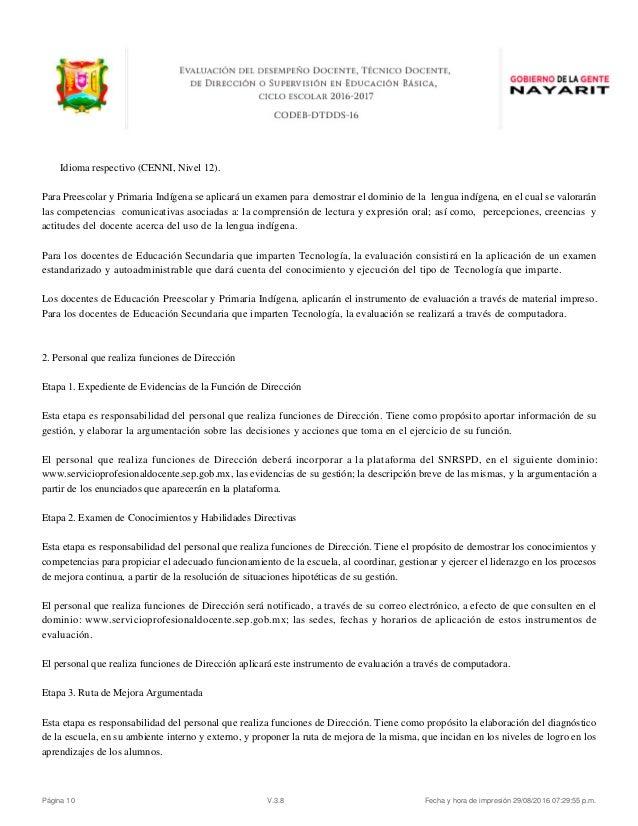 evaluacion desempe o docente convocatoria nayarit 2016