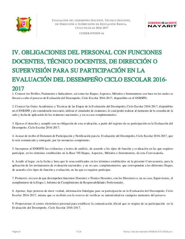 evaluacion desempe o docente convocatoria nayarit 2016 On convocatoria docentes exterior 2016