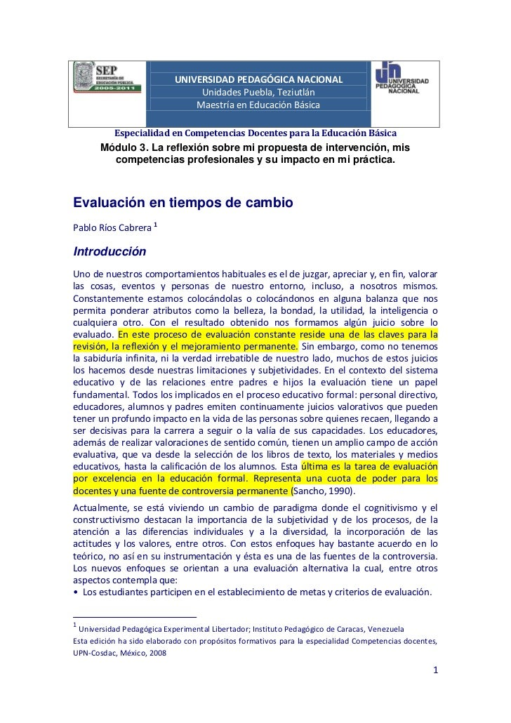 UNIVERSIDAD PEDAGÓGICA NACIONAL                                Unidades Puebla, Teziutlán                               Ma...