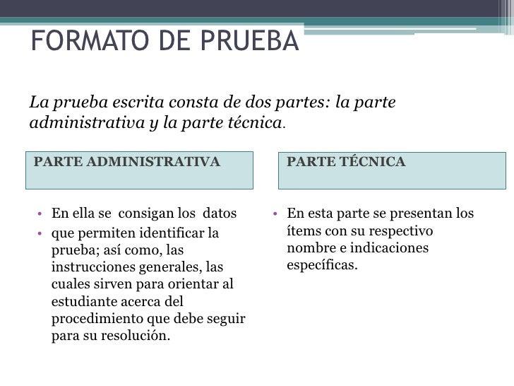 PARTE ADMINISTRATIVA•   Nombre de la institución     •   Duración de la prueba•   Nombre de la asignatura      •   Puntuac...