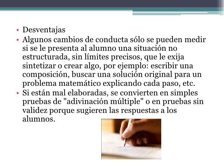 • El examen escrito presenta diferentes  modalidades: puede ser temático, ejercicio  interpretativo, de ensayo, prueba obj...