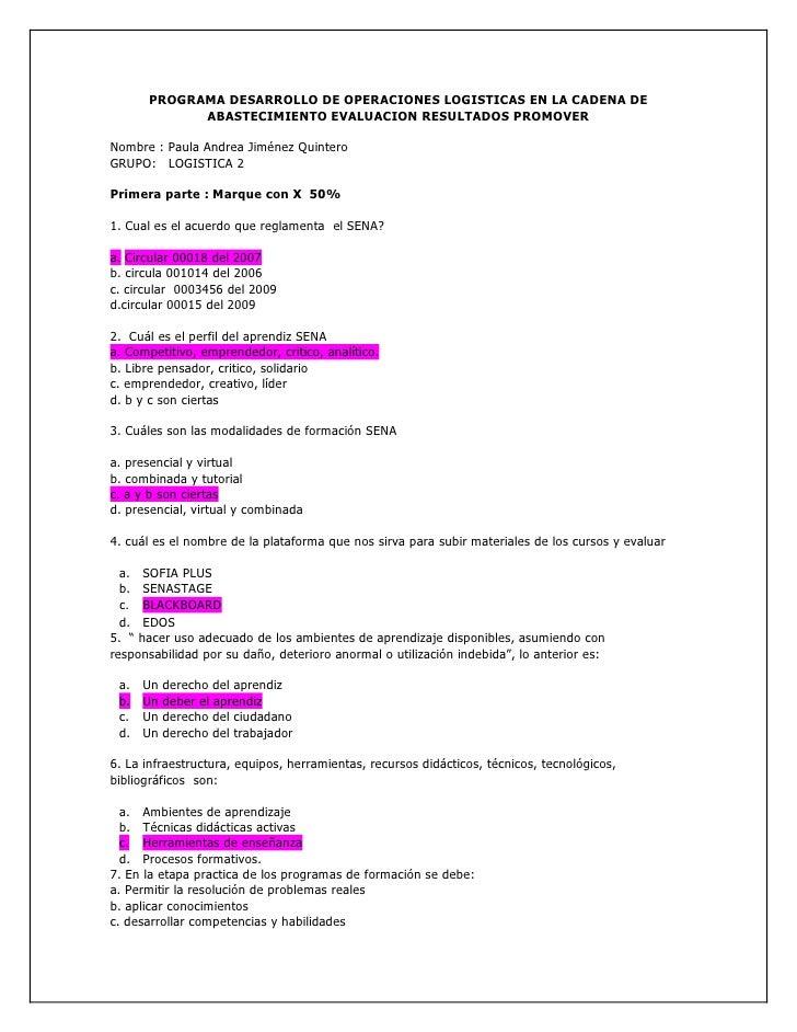 PROGRAMA DESARROLLO DE OPERACIONES LOGISTICAS EN LA CADENA DE             ABASTECIMIENTO EVALUACION RESULTADOS PROMOVER  N...