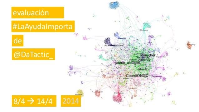 evaluación #LaAyudaImporta de @DaTactic_ 8/4  14/4 2014