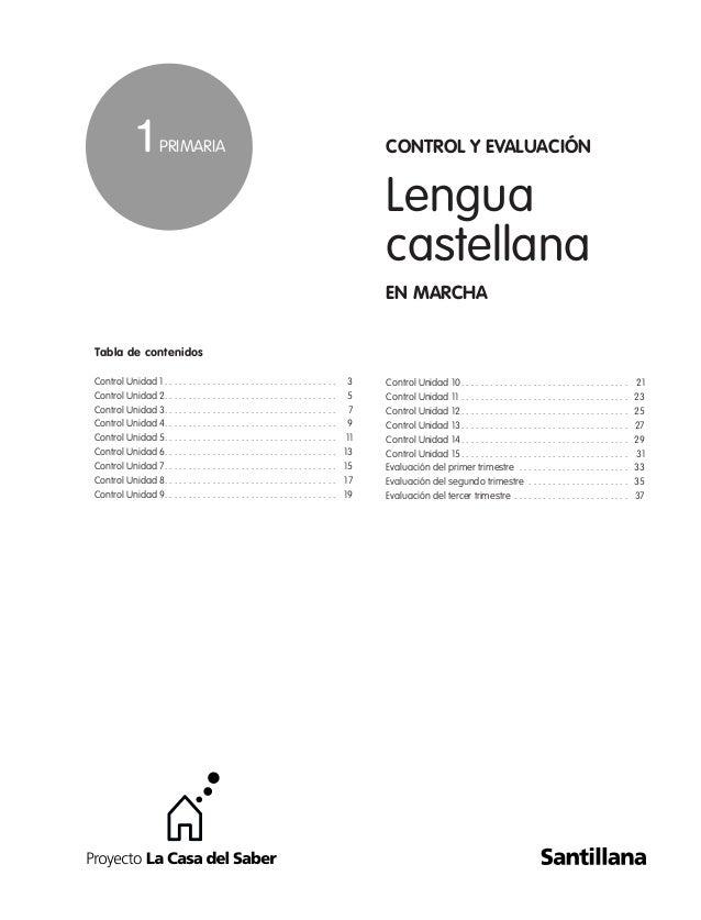 Evaluacion lengua 1º