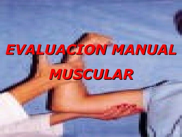 EVALUACION MANUAL MUSCULAR