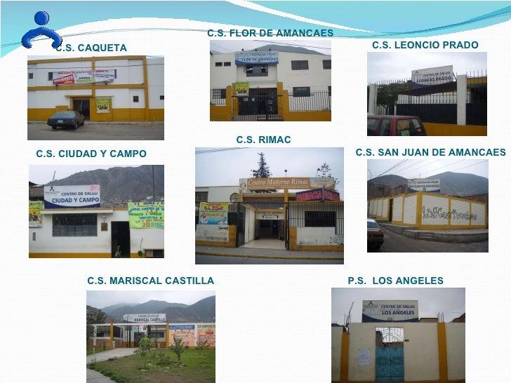 C.S. CAQUETA C.S. CIUDAD Y CAMPO C.S. FLOR DE AMANCAES C.S. RIMAC C.S. MARISCAL CASTILLA C.S. LEONCIO PRADO C.S. SAN JUAN ...