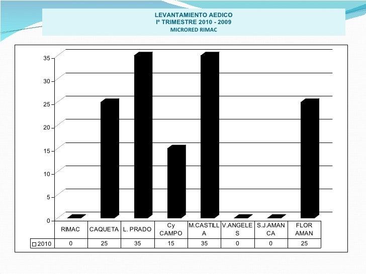 LEVANTAMIENTO AEDICO Iº TRIMESTRE 2010 - 2009 MICRORED RIMAC