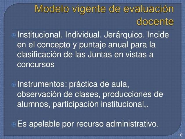 Institucional. Individual. Jerárquico. Incide en el concepto y puntaje anual para la clasificación de las Juntas en vista...