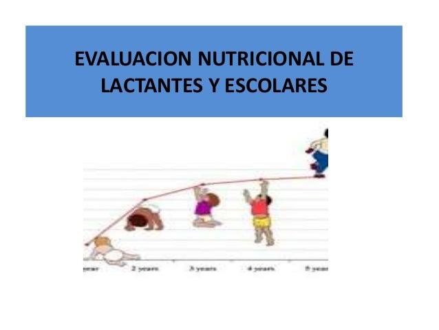 EVALUACION NUTRICIONAL DE LACTANTES Y ESCOLARES