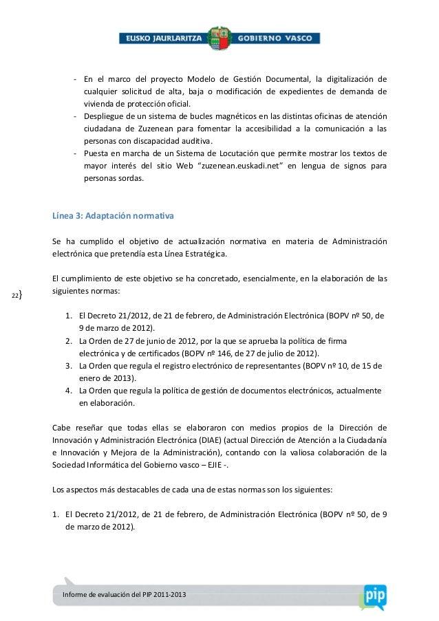 Informe de evaluaci n del pip 2011 13 - Oficinas de atencion a la ciudadania linea madrid ...