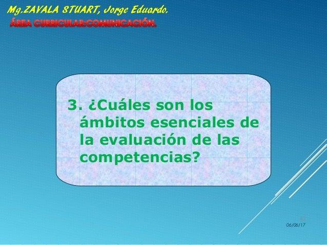 3. ¿Cuáles son los ámbitos esenciales de la evaluación de las competencias? 06/06/17 43