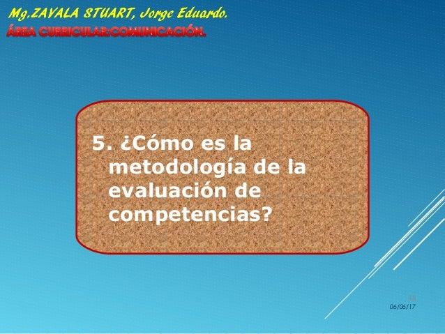 5. ¿Cómo es la metodología de la evaluación de competencias? 06/06/17 48