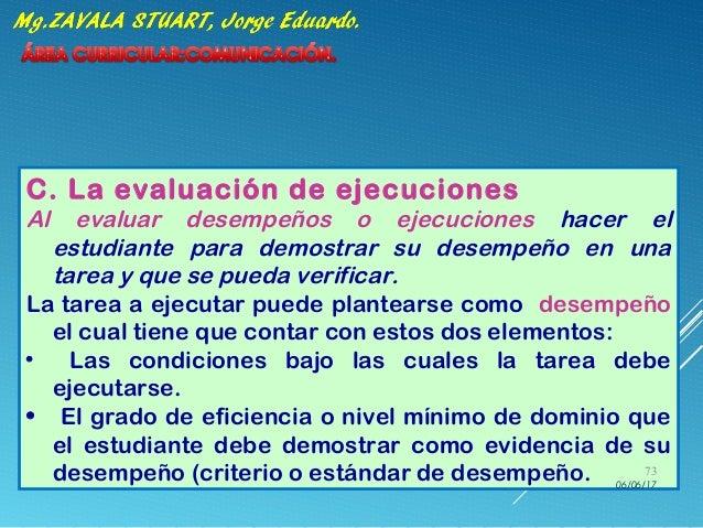 C. La evaluación de ejecuciones Al evaluar desempeños o ejecuciones hacer el estudiante para demostrar su desempeño en una...