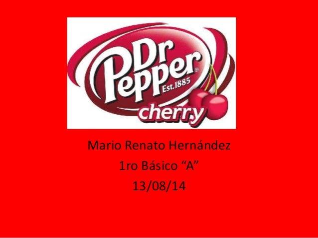"""Mario Renato Hernández 1ro Básico """"A"""" 13/08/14"""