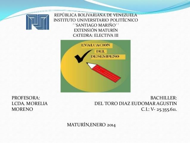 REPÚBLICA BOLIVARIANA DE VENEZUELA INSTITUTO UNIVERSITARIO POLITÉCNICO ´´SANTIAGO MARIÑO´´ EXTENSIÓN MATURÍN CATEDRA: ELEC...