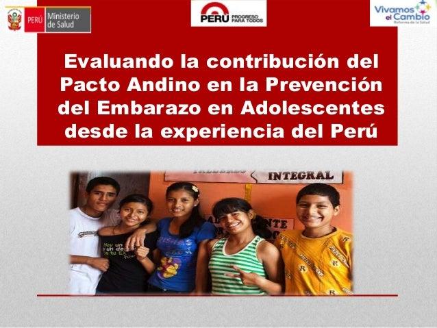 Evaluando la contribución del Pacto Andino en la Prevención del Embarazo en Adolescentes desde la experiencia del Perú