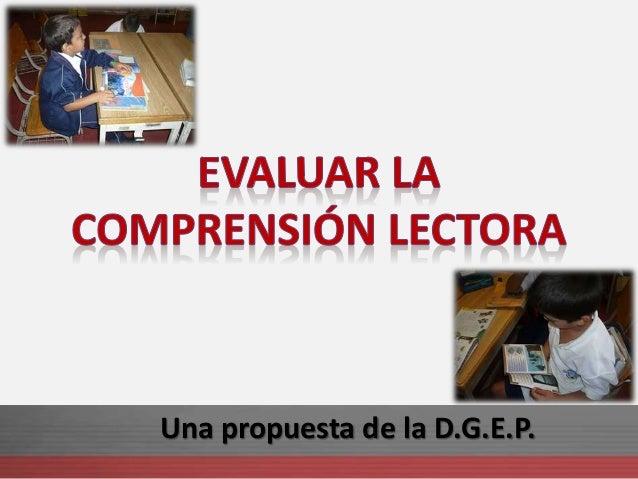 Una propuesta de la D.G.E.P.