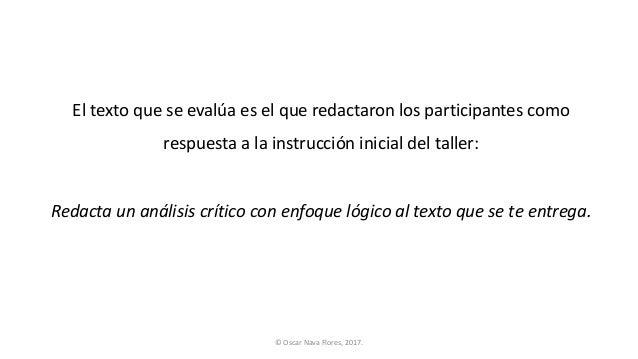 Evaluar las propiedades lógicas de un texto como respuesta a una instrucción Slide 2