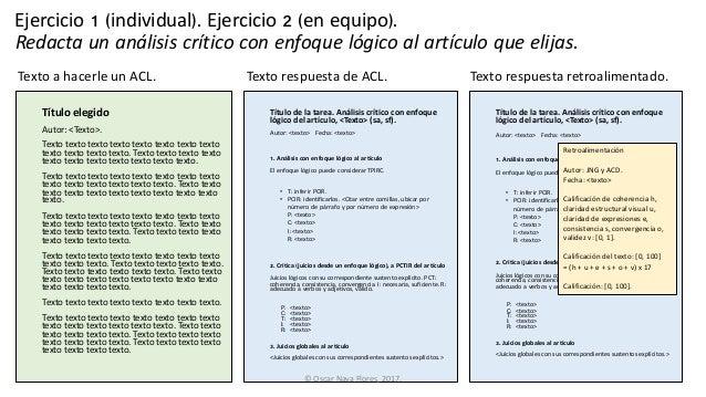 Evaluar las propiedades lógicas de un texto como respuesta a una instrucción Slide 3