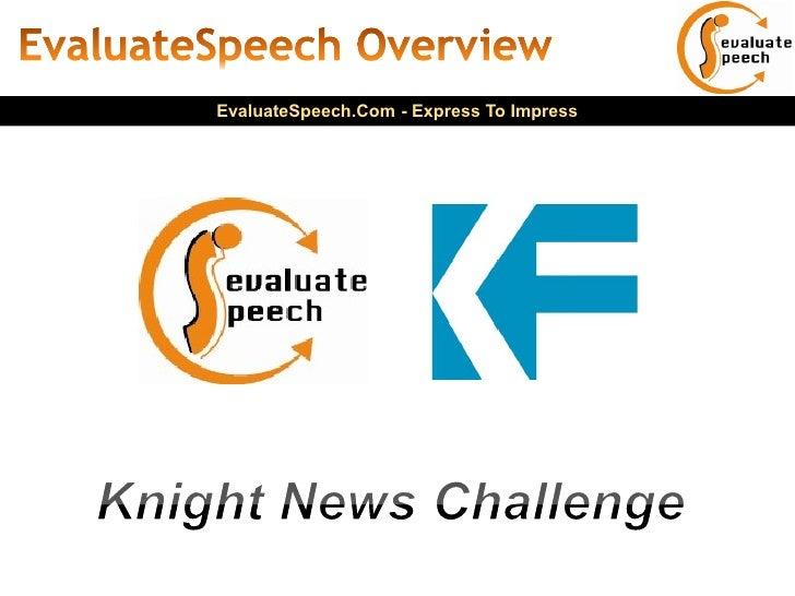 EvaluateSpeech.Com - Express To Impress