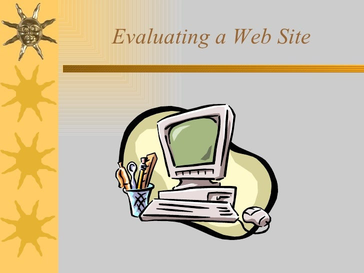 Evaluating a Web Site