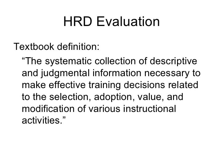 Evaluating HrdPrograms