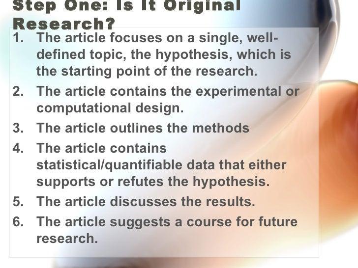 Evaluating Science Literature Slide 2
