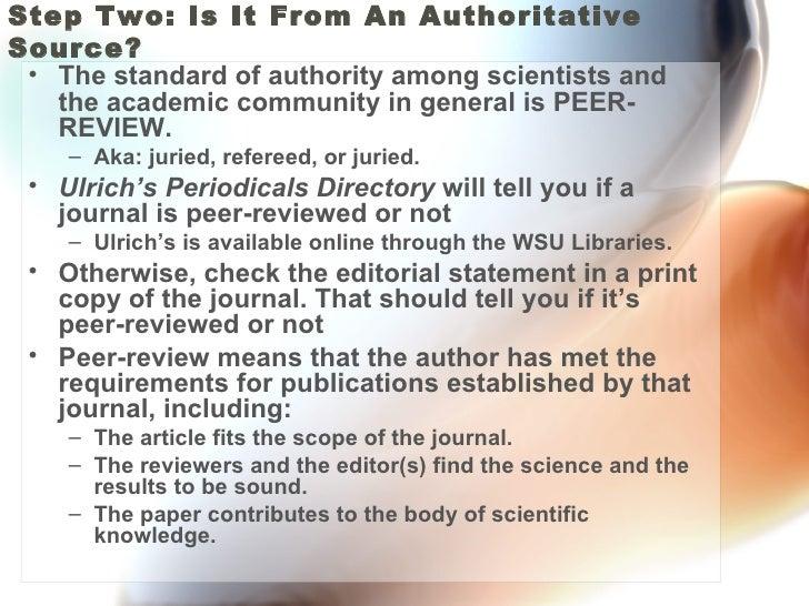 Evaluating Science Literature Slide 3