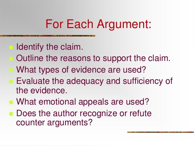an argument supporting the claim that television encourages violence Using the arguments that support your position,  argument from authority: the claim that  a strange variation on argument from authority for example, the tv.