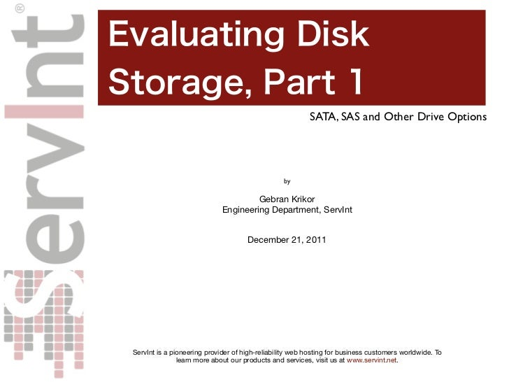 SATA, SAS and Other Drive Options                                                 by                                      ...