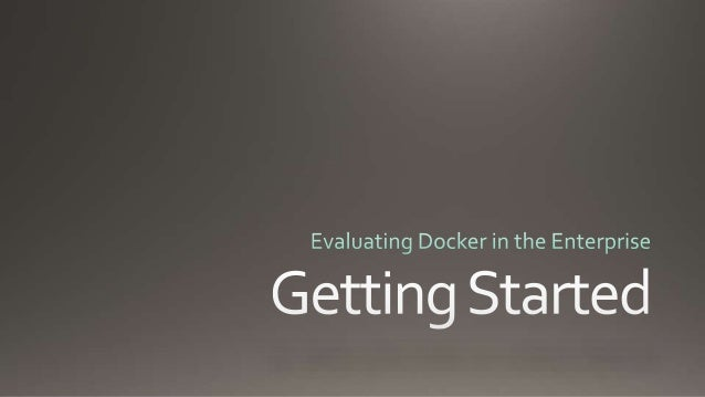 Virtualization Docker