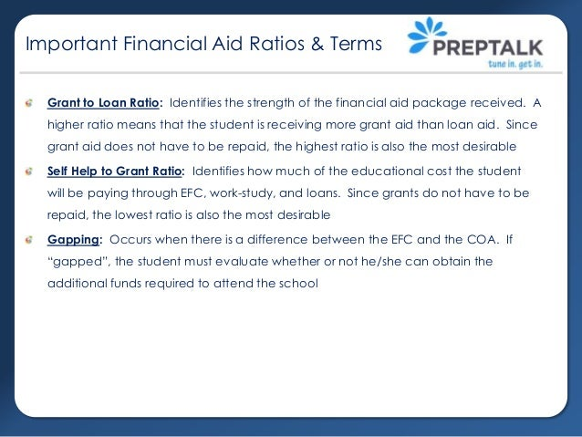 Evaluating financial aid award letters