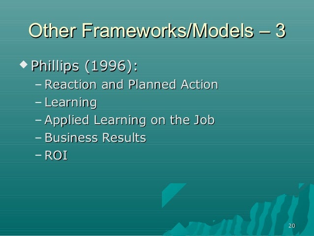 2020Other Frameworks/Models – 3Other Frameworks/Models – 3 Phillips (1996):Phillips (1996):– Reaction and Planned ActionR...