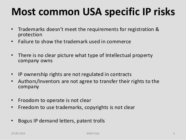 Evaluating Intellectual Property Risks And Preparing IP Strategy