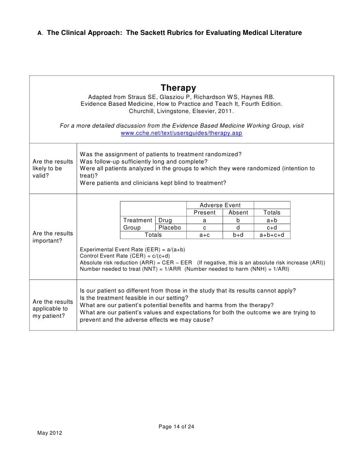 case study the sackett v the Level iii: case control study (therapeutic and prognostic studies) retro-  please view the full levels of evidence for primary research question,.