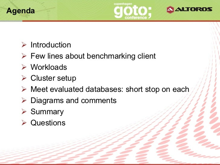 Evaluating NoSQL Performance: Time for Benchmarking Slide 2