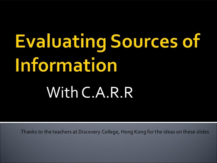With C.A.R.RThanks to the teachers at Discovery College, Hong Kong for the ideas on these slides