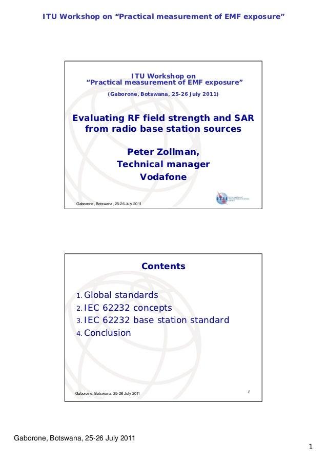 """ITU Workshop on """"Practical measurement of EMF exposure""""                                   ITU Workshop on                 ..."""