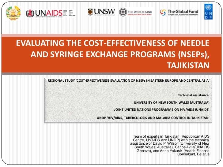 EVALUATING THE COST-EFFECTIVENESS OF NEEDLE   AND SYRINGE EXCHANGE PROGRAMS (NSEPs),                                  TAJI...