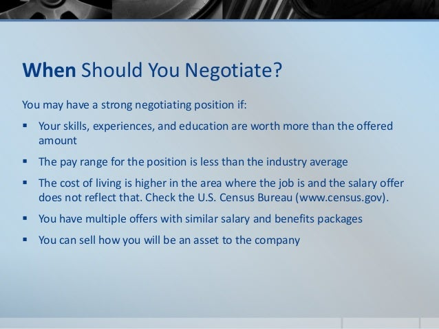 Evaluating the offer & salary negotiation