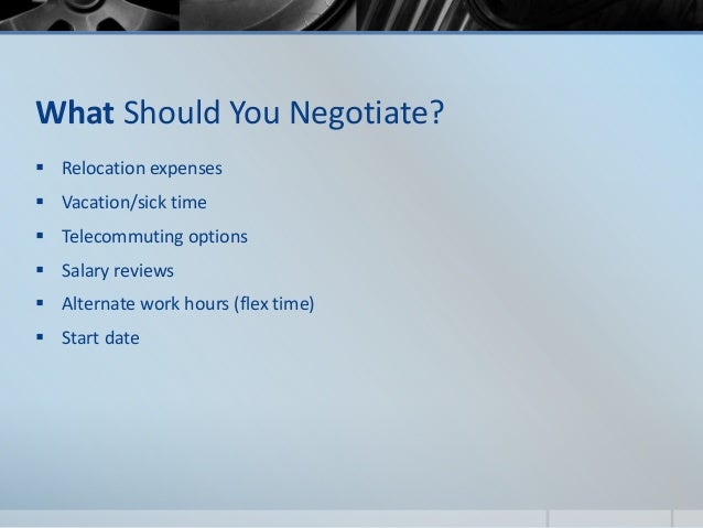 Evaluating The Offer Amp Salary Negotiation