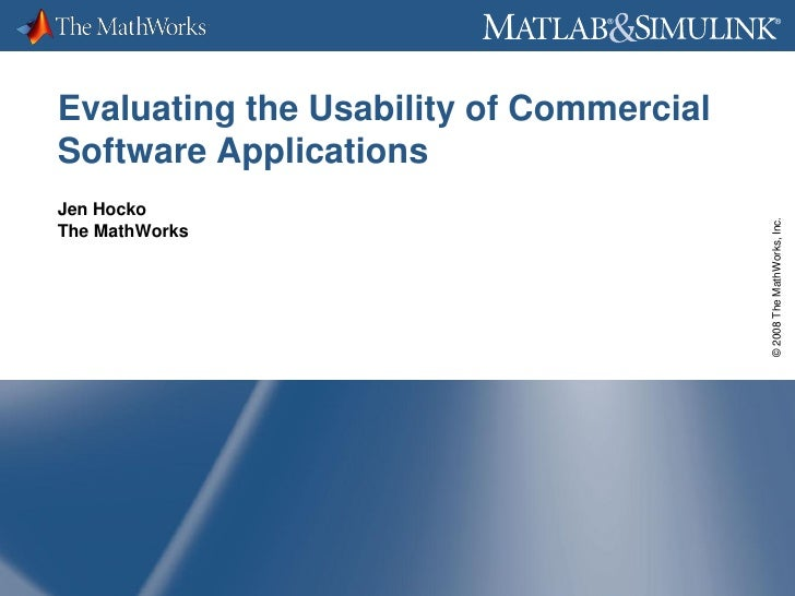 Evaluating Usability Of Commercial Applications on evaluation process steps, evaluation chart, evaluation design, evaluation essay examples, evaluation sample,