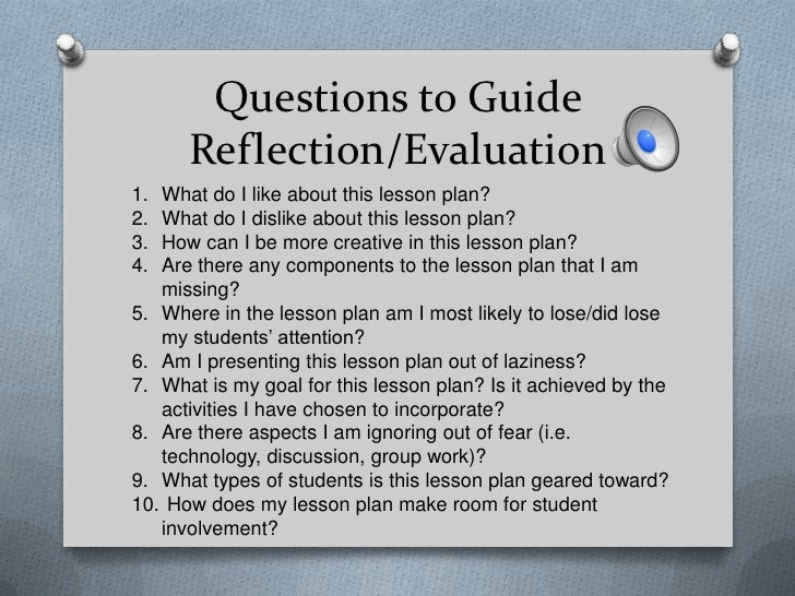reflective evaluation