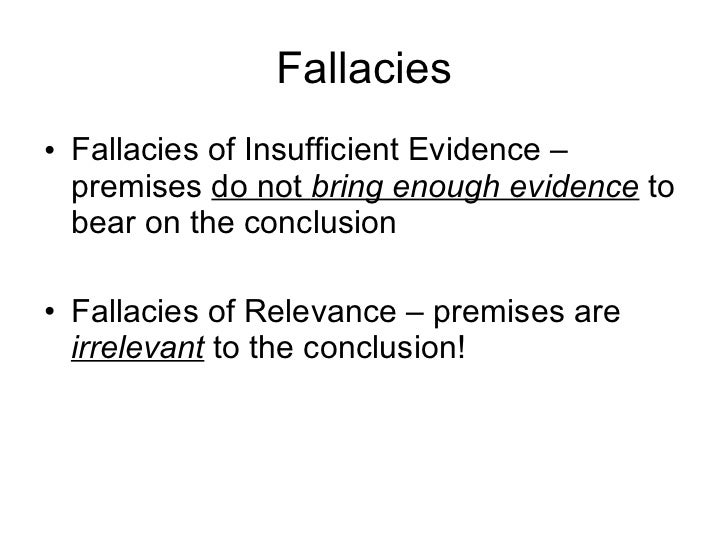 evaluating logical fallacies essay Our lesson study on logical fallacies is designed to be presented prior to student submission of the final draft of the first major essay project, a project which is comprised of a series of sequenced essay assignments that require a classical academic argument structure.