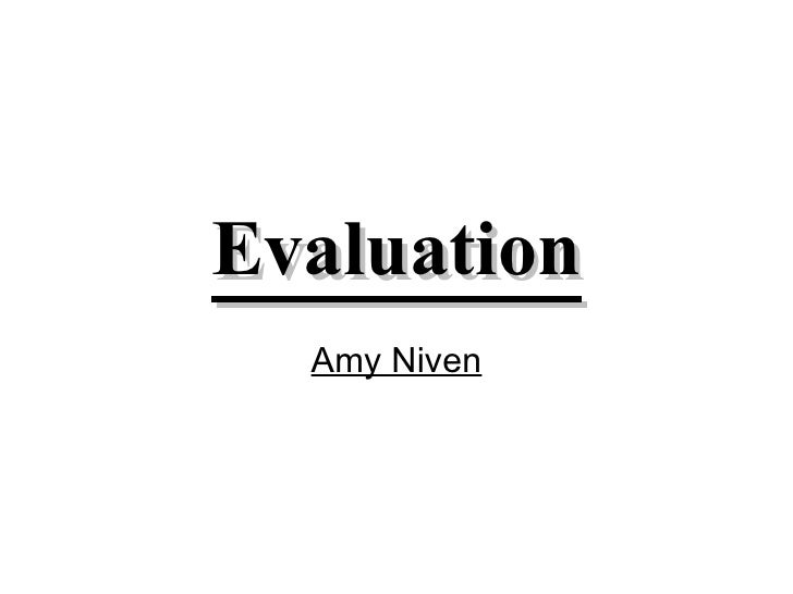 Evaluation Amy Niven